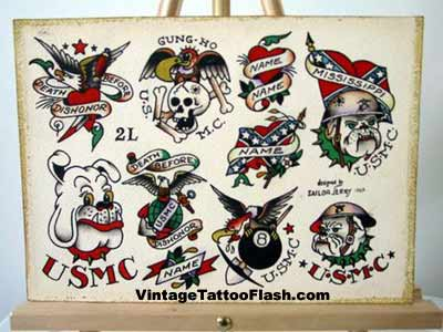 sailor jerry tattoo flash Sheet 2l