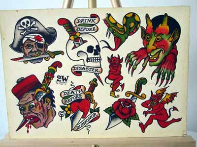 Original sailor jerry tattoo flash