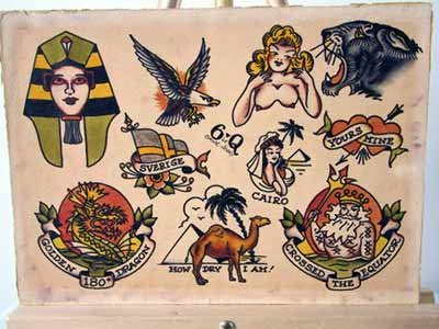 sailor jerry traditional flash art  Sailor Jerry Tattoo Flash Sheet
