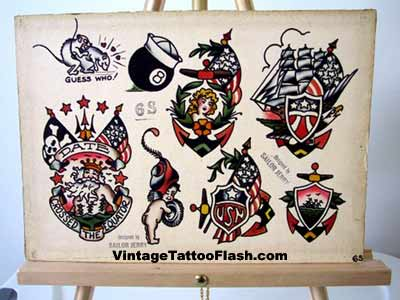 Sailor Jerry Tattoo Designs on Bunch Of Sailor Tattoo Designs Anchors And An 8 Ball With A Navy Cap